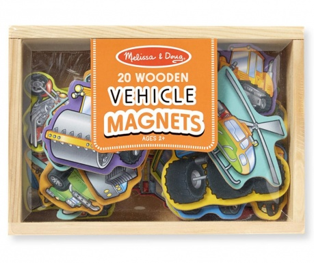 Set 20 magnetov in škatle Auto Ride