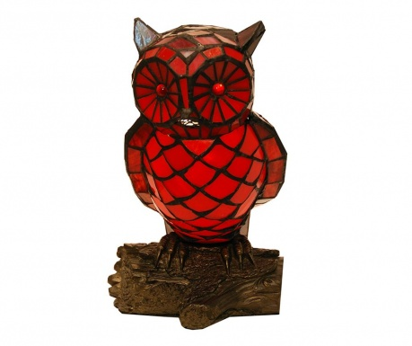 Lampa de veghe Owl Red Black