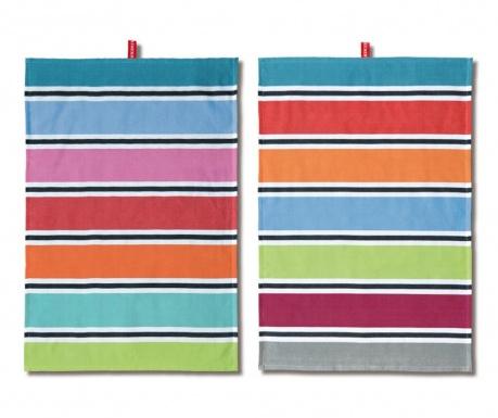 Set 2 prosoape de bucatarie Pastel Stripes 50x70 cm