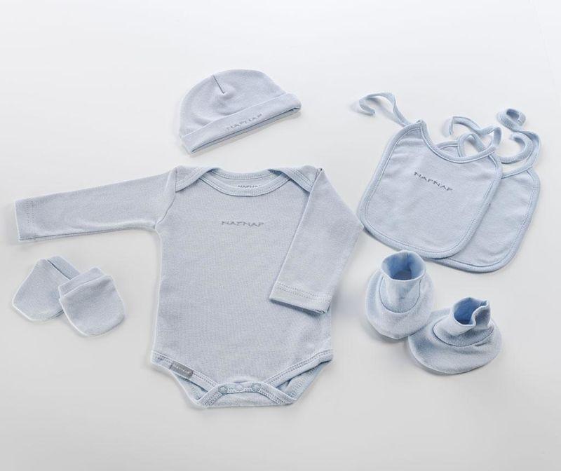 Set haine pentru bebelusi 6 piese Blue 0-3 luni