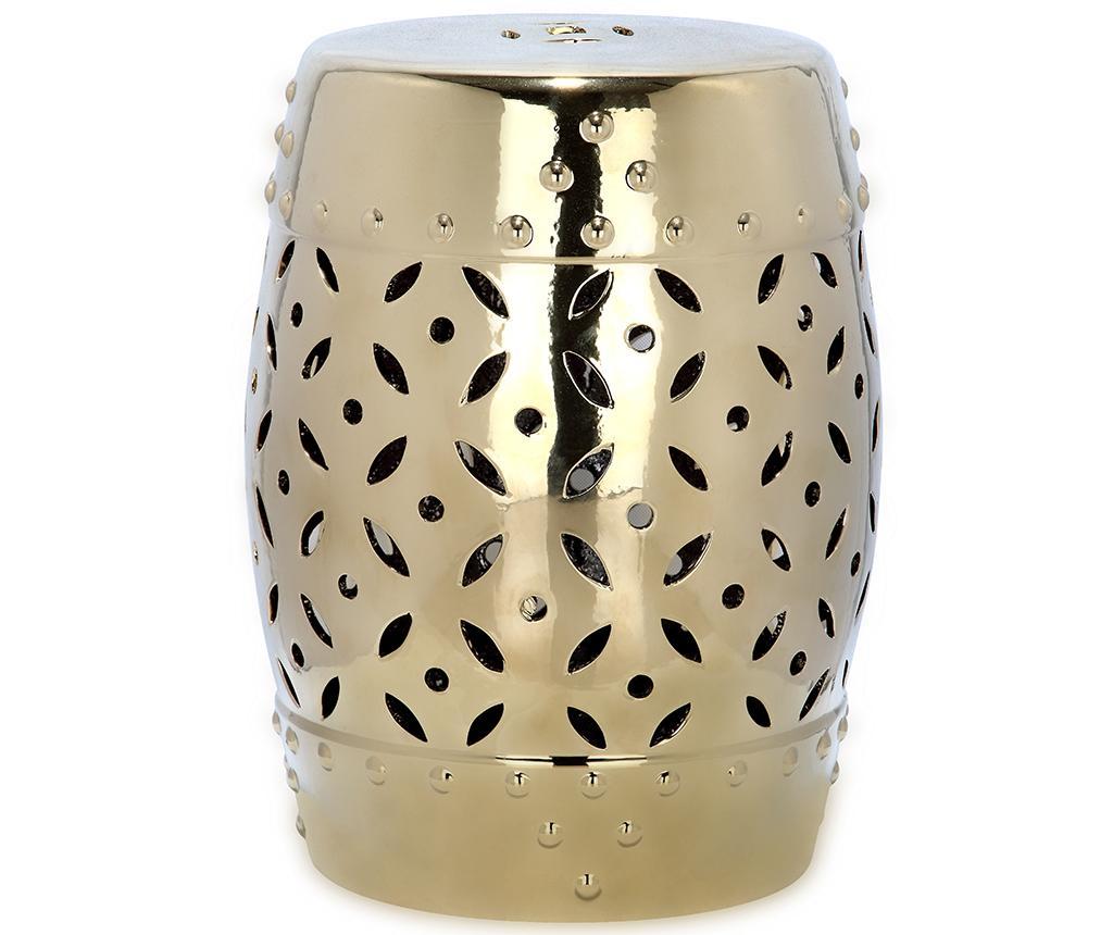 Taburet Decorativ Cyprus Gold Galben Auriu