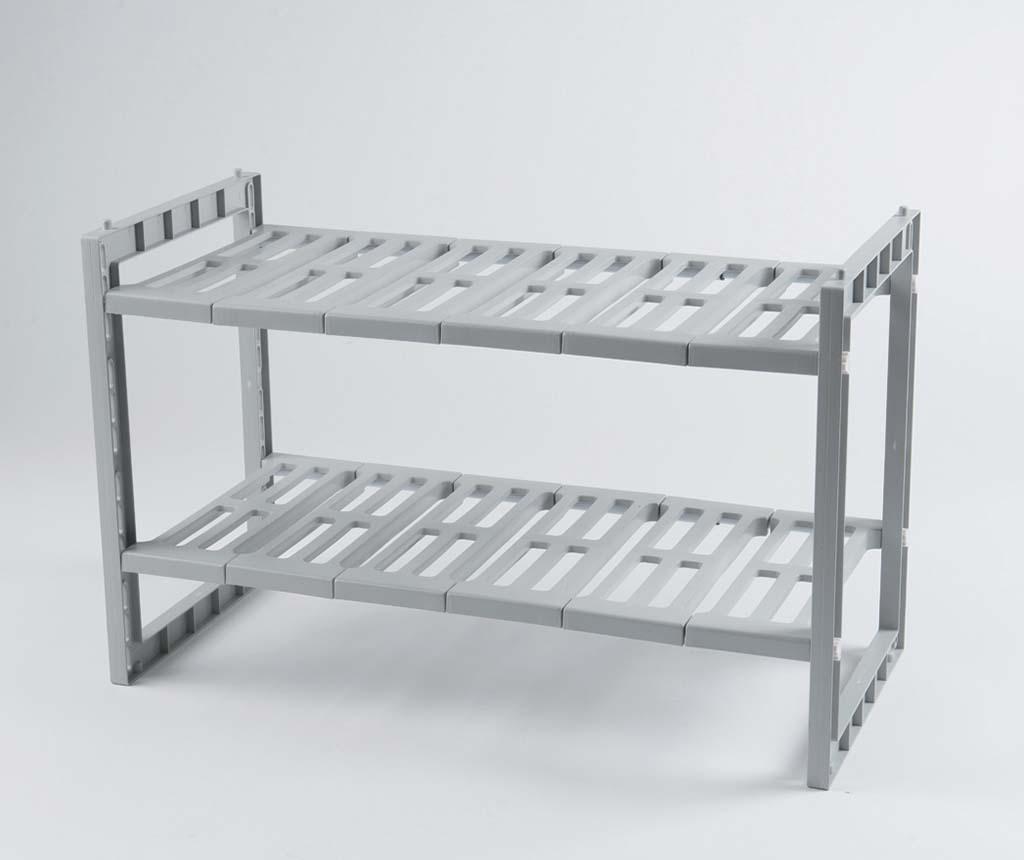 Etajera extensibila pentru baie Under Sink - Compactor, Gri & Argintiu