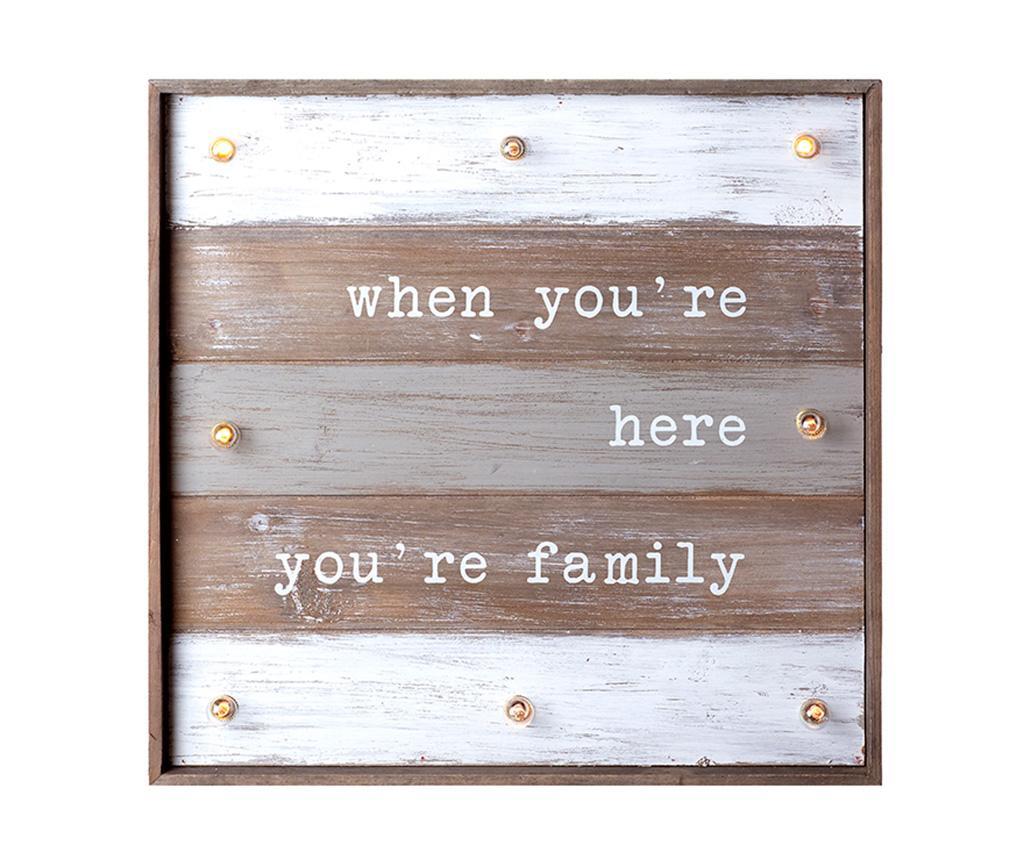 Decoratiune luminoasa de perete Family - Heaven Sends, Alb,Maro