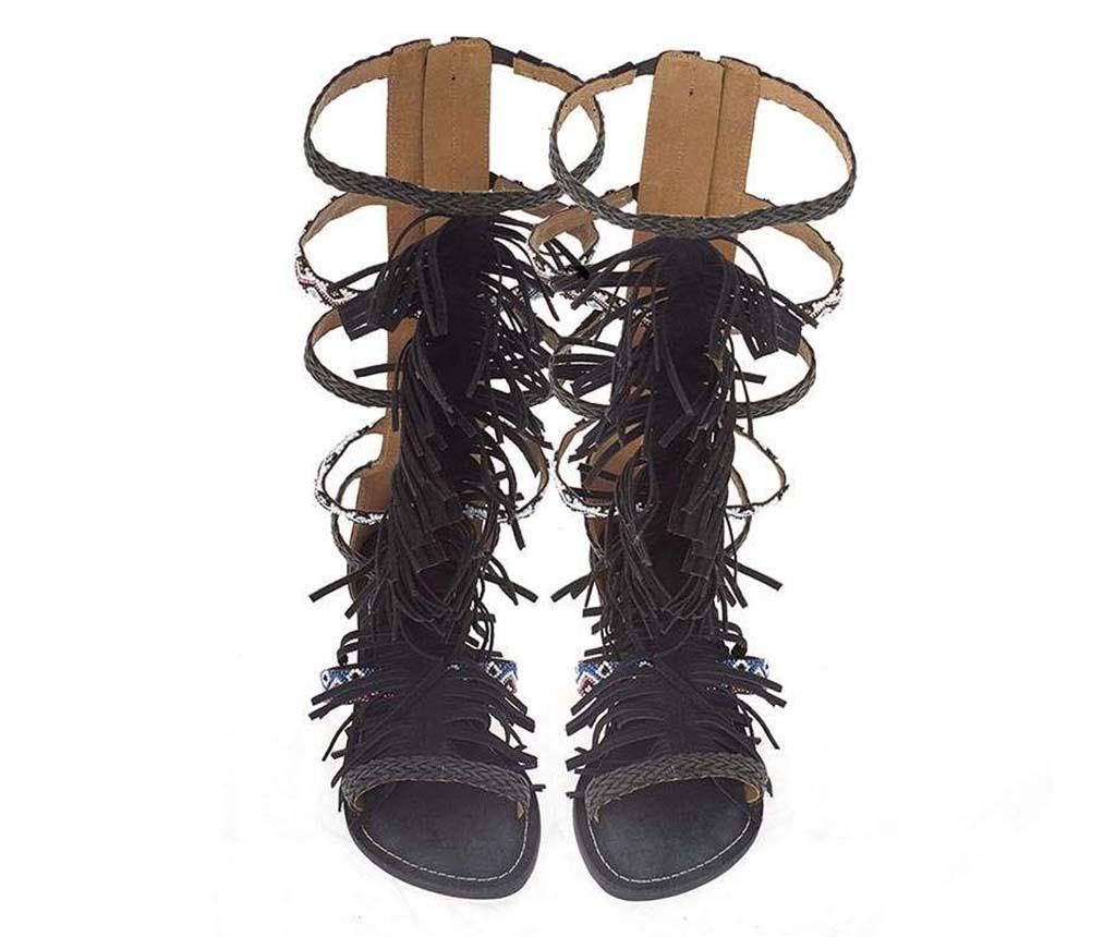 Sandale dama Knee Black 38 - inart, Maro