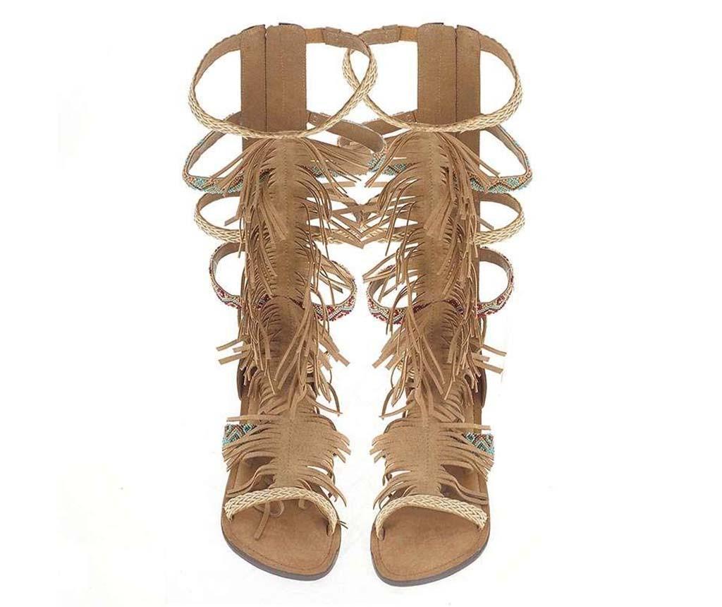 Sandale dama Knee Tan 38 - inart
