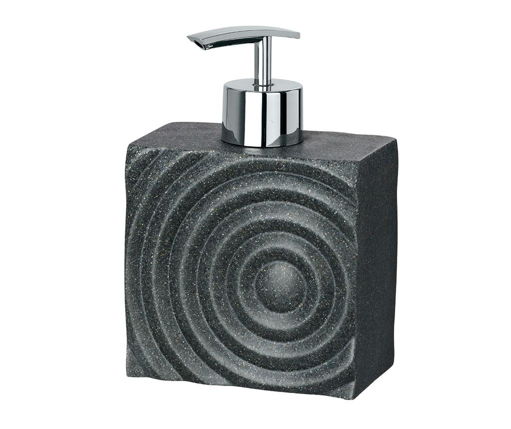 Dispenser sapun lichid Signs 290 ml - Wenko, Gri & Argintiu