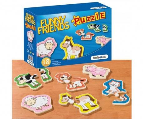 Joc tip puzzle 18 piese Fiendly Animals