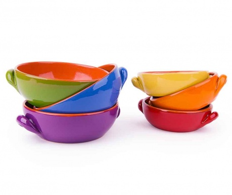 Set 6 vase de copt Lara Multicolor