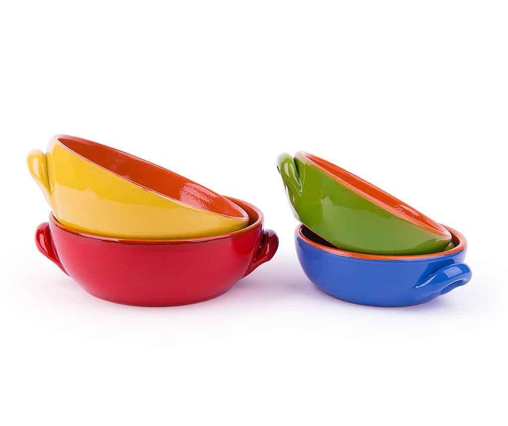 Set 4 vase de copt Bria Multicolor