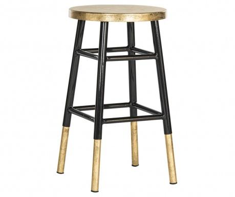 Krzesło barowe Mirabelle Black Gold
