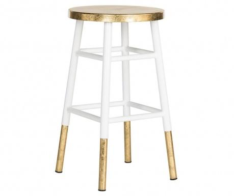 Barski stol Mirabelle White Gold