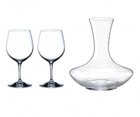 Set 2 pahare pentru vin si decantor Rona Home Crystalite