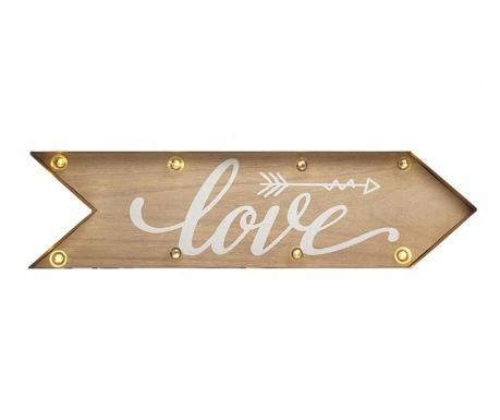 Nástenná svetelná dekorácia Love Sign