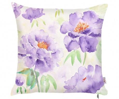 Purple Flowers Párnahuzat 43x43 cm