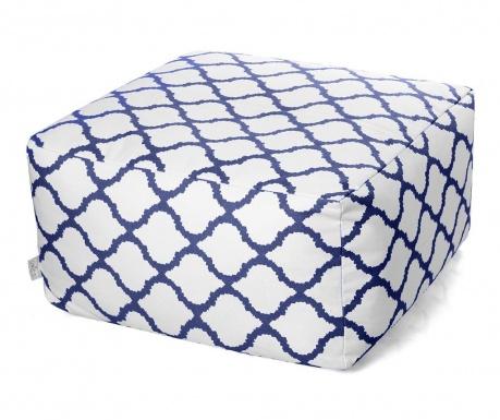 Puff seat Soraya White Blue 60x60 cm