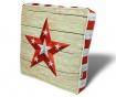Sedežna blazina Star Red White 42x42 cm