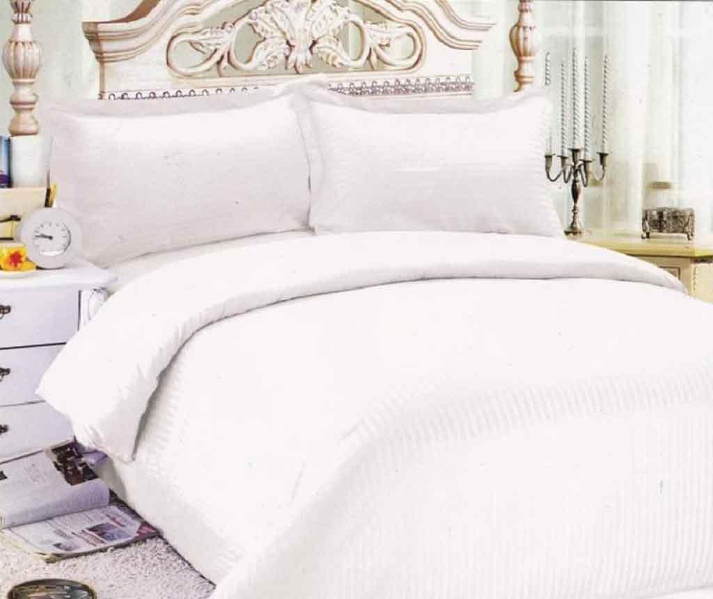 Lenjerie de pat Double Damasc Basic  White