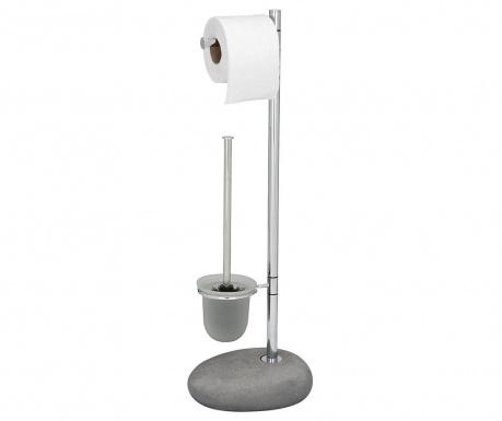 Držalo za toaletni papir in WC krtačo Pebble Grey