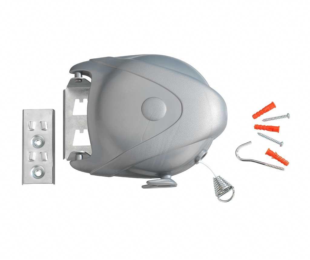 Uscator retractabil pentru rufe Jumbo - Wenko, Gri & Argintiu