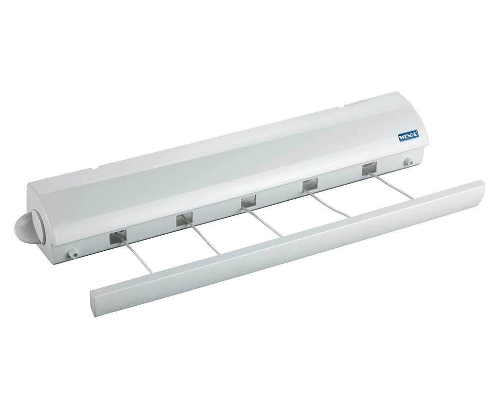 Uscator de rufe extensibil Lines - Wenko, Gri & Argintiu