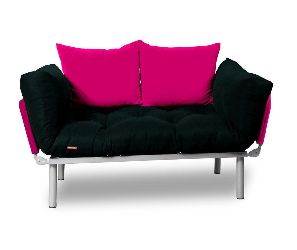 Sera Tekstil Sofa Extensibila Relax Black Pink