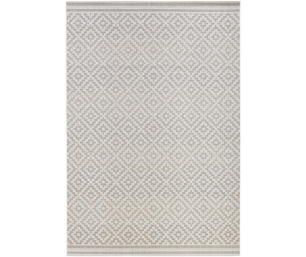 Covor de exterior Meadow Raute Grey Cream 200×290 cm