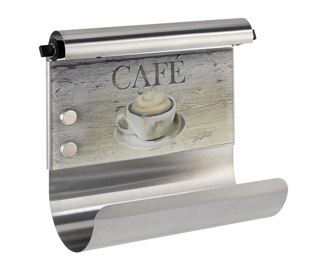 Suport pentru rola de servetele Cafe - Wenko, Gri & Argintiu imagine 2021