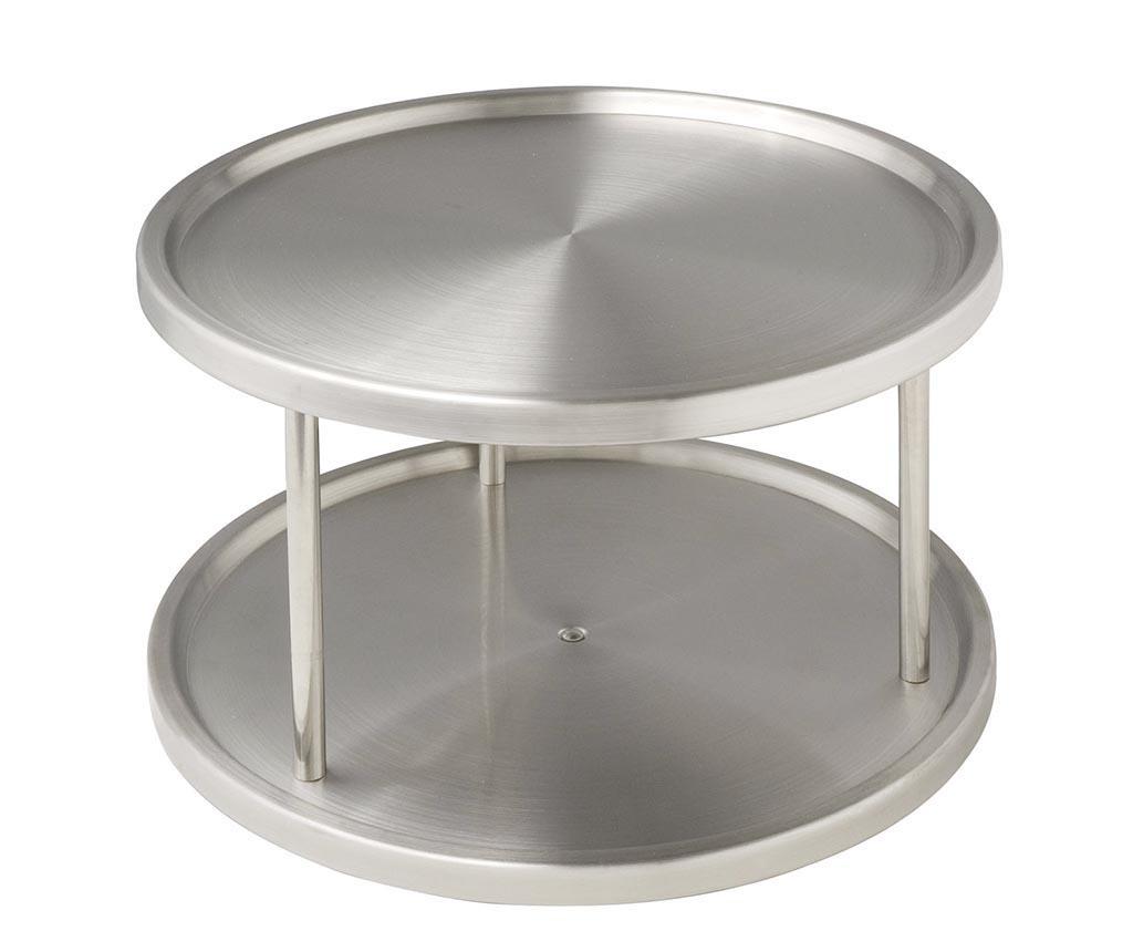 Suport cu 2 niveluri Rondell Duo - Wenko, Gri & Argintiu
