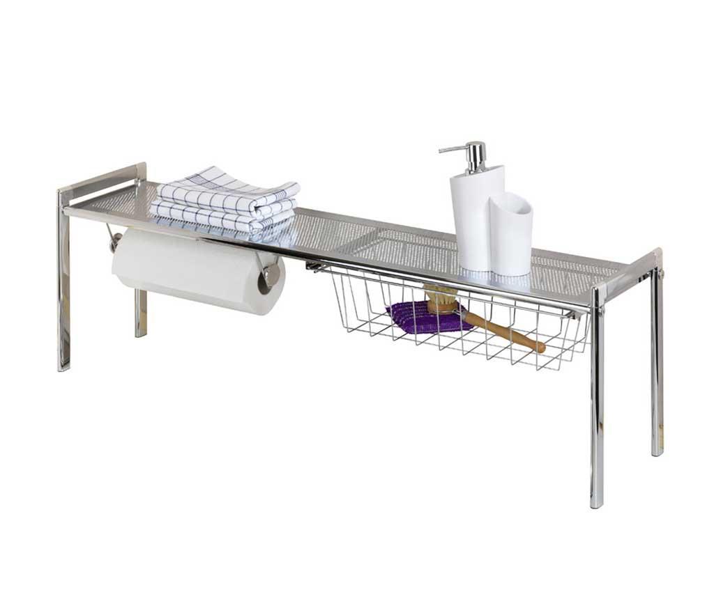 Suport pentru accesorii de bucatarie Exquisit - Wenko, Gri & Argintiu
