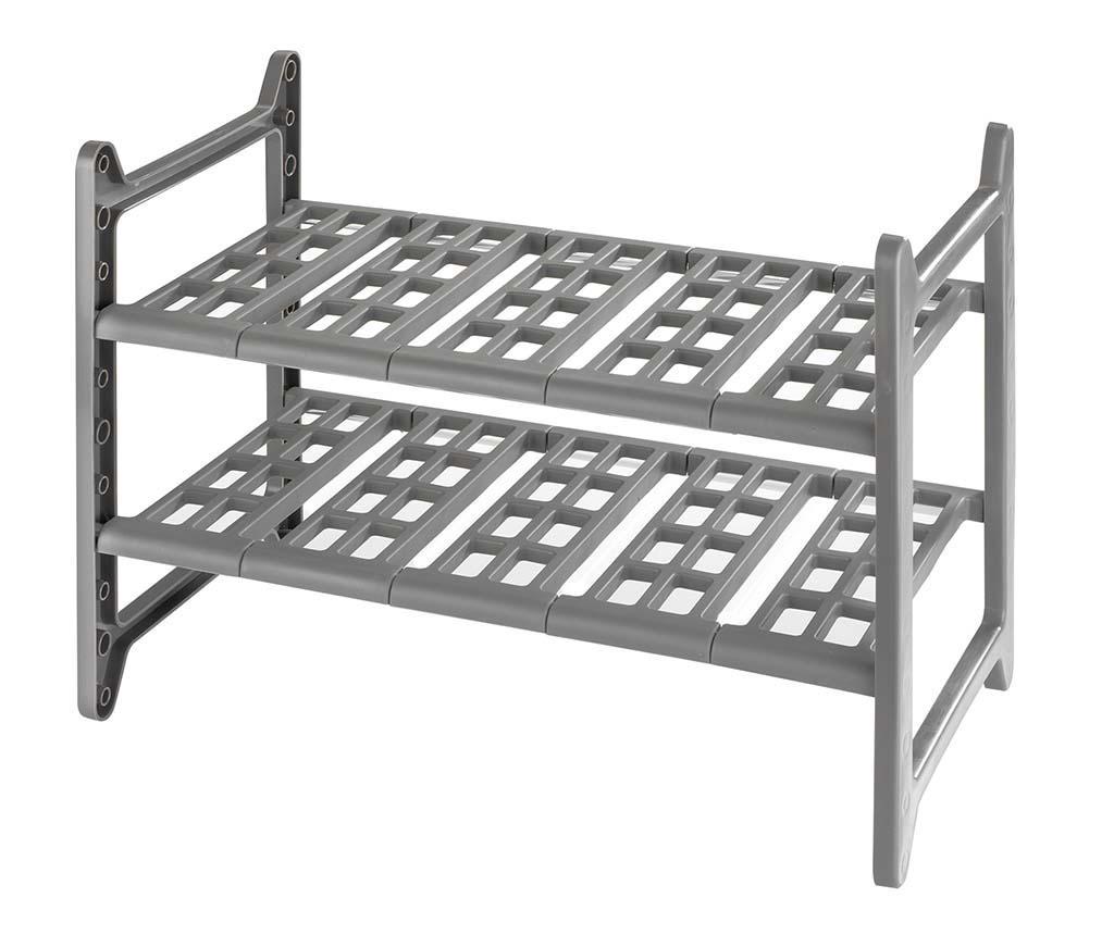 Organizator extensibil pentru dulap Flexi - Wenko, Gri & Argintiu