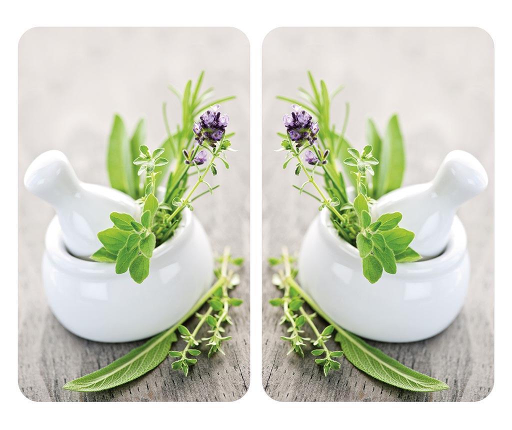 Set 2 planse protectoare pentru plita Herb Garden - Wenko