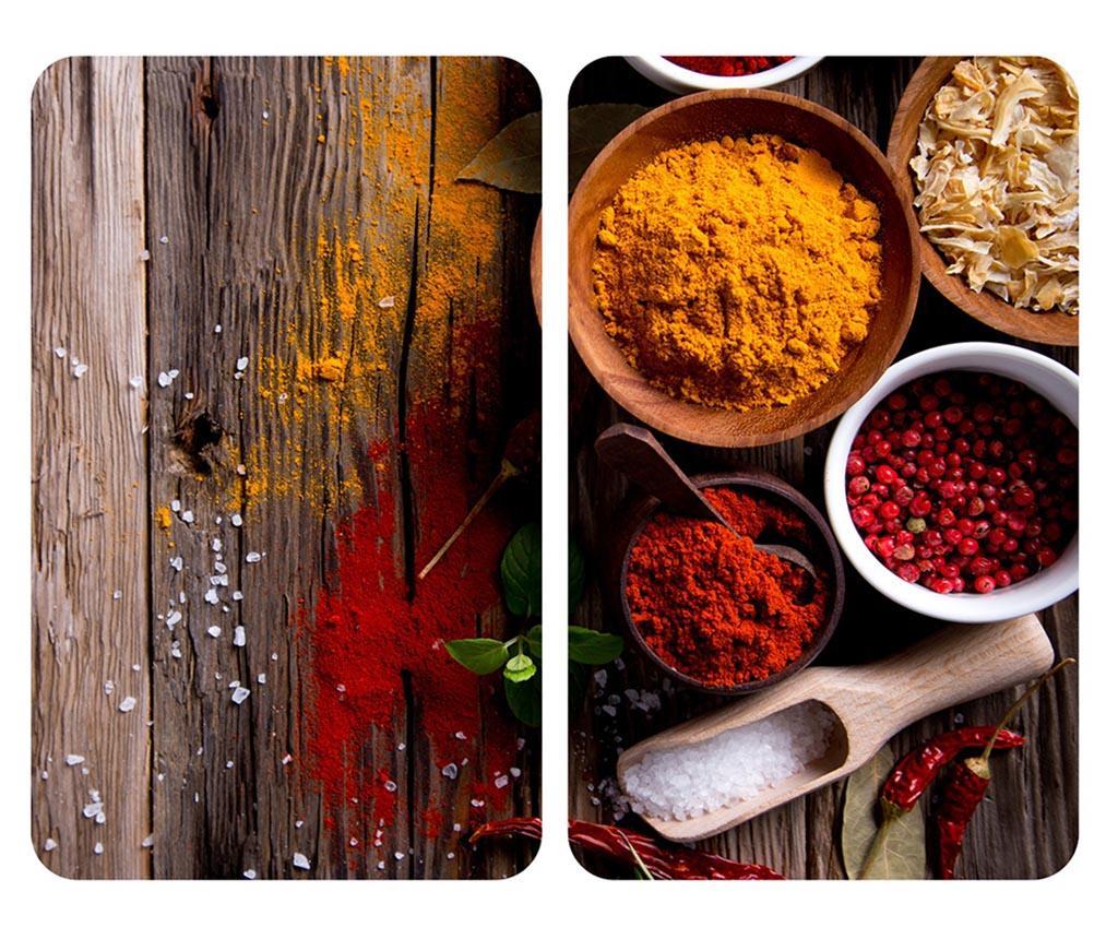 Set 2 Planse Protectoare Pentru Plita Spice - Wenko, Rosu