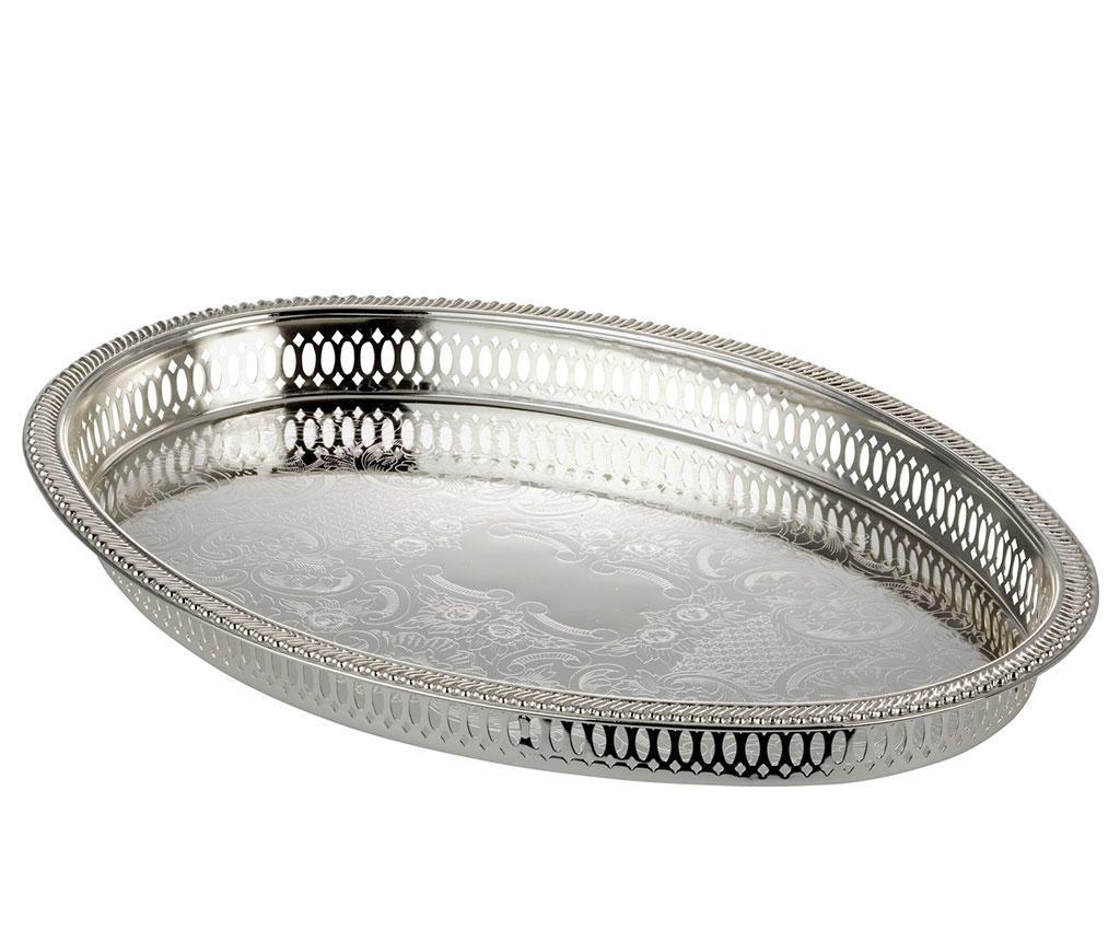 Tava pentru servire Emily Oval - Hermann Bauer jun. GmbH, Gri & Argintiu