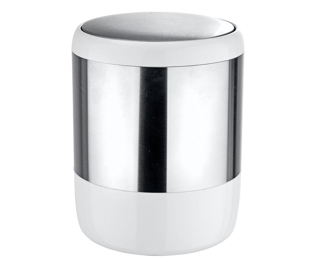 Cos de gunoi cu capac Loft 6 L - Wenko, Gri & Argintiu