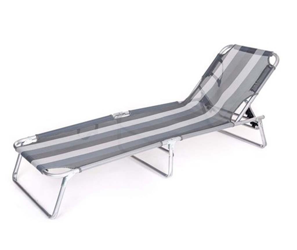 Składany leżak zewnętrzny Anthracite Stripe