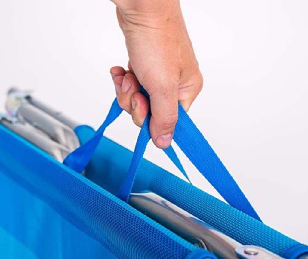 Sklopiva ležaljka za vanjski prostor Blue Stripe