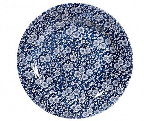 Sada 6 mělkých talířů Victorian Dark Blue & White