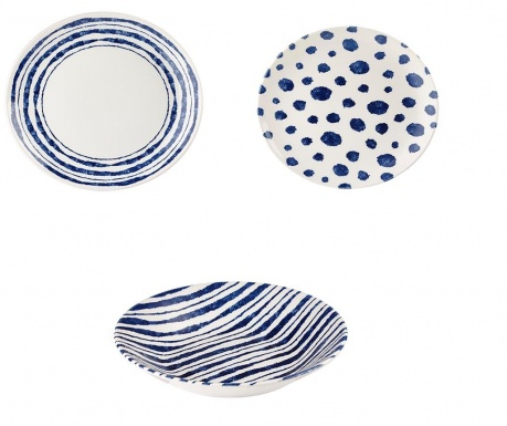 Set of 12 tableware pieces Inkie