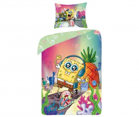 Spongebob House Egyszemélyes  Ranforce Ágynemű