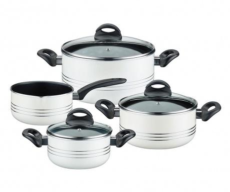 Комплект  съдове за готвене  7 части Milano White