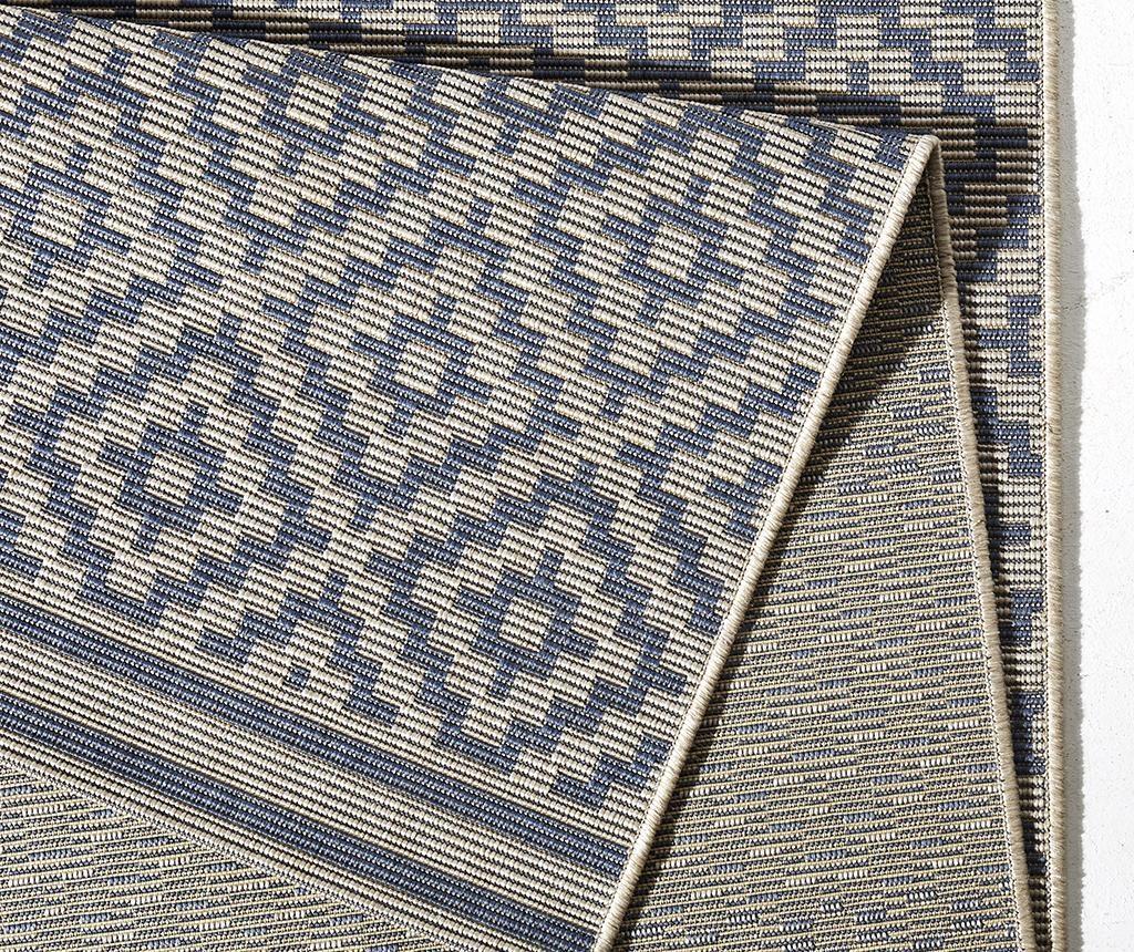 Covor de exterior Meadow Raute Blue Cream 80x200 cm