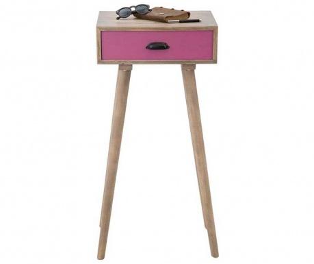 Ibiza Pink Tall Asztalka 1 fiókkal
