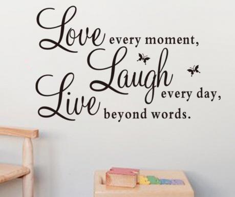 Sticker Love Laugh Live