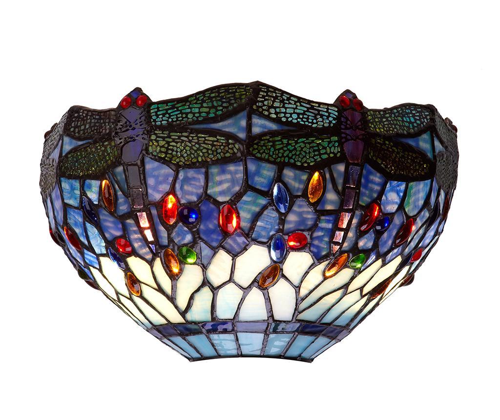 Aplica de perete Belle Epoque Wide - Tiffan y Luz, Albastru,Multicolor
