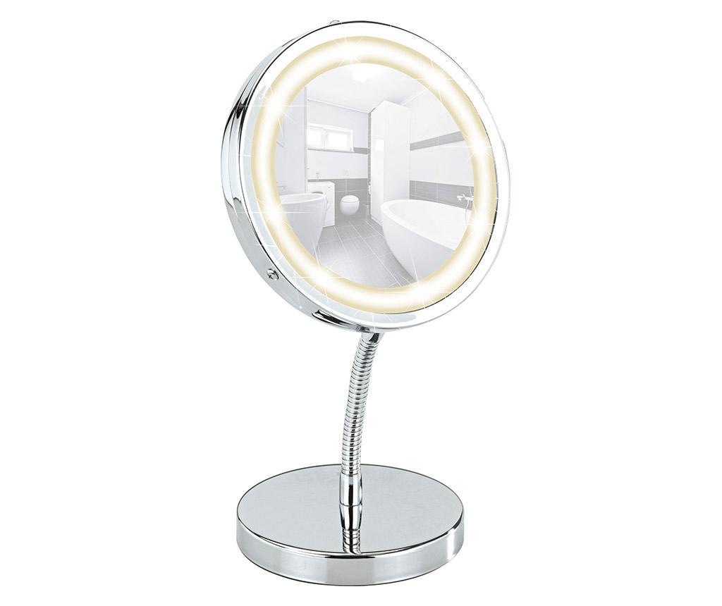Oglinda cosmetica cu LED Brolo - Wenko, Gri & Argintiu