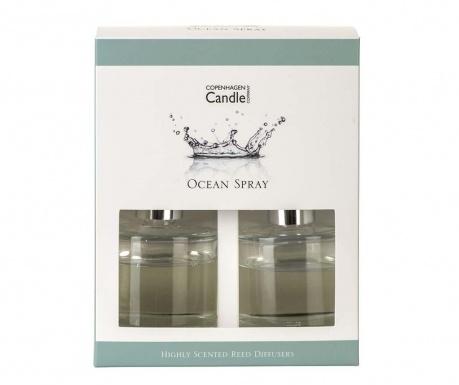 Set 2 difuzoare cu uleiuri esentiale  si betisoare Ocean Spray 40 ml