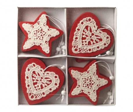 Set 12 decoratiuni suspendabile Star & Heart