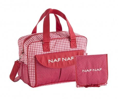 Zestaw torba na pieluchy i składany przewijak Vivian Red