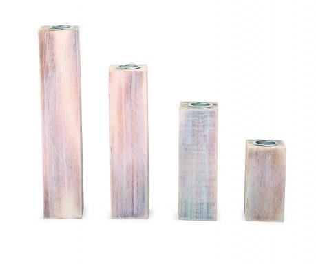 Zestaw 4 świeczników Sticks