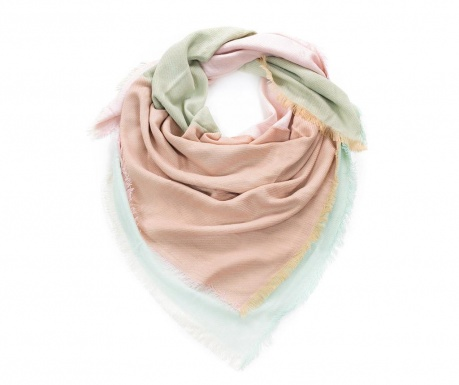 Esarfa Linium Pink and Grey 140x140 cm